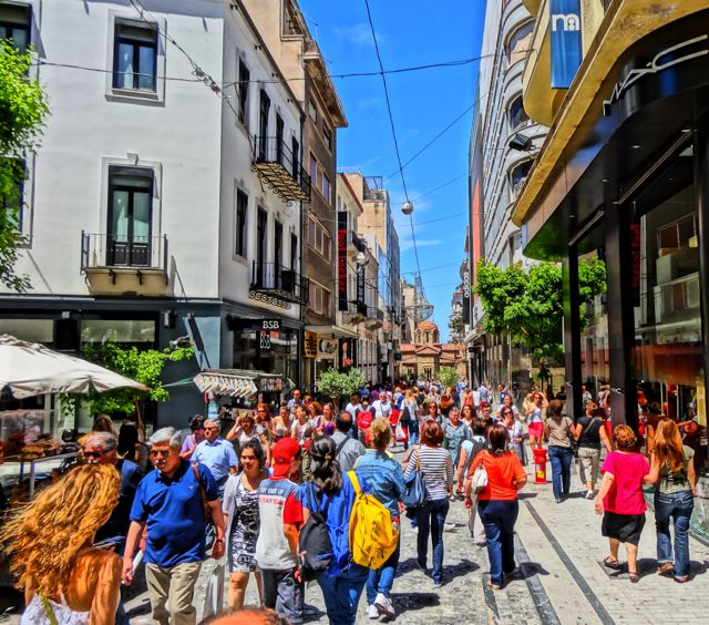 Ermou: Athens' Main Shopping Street