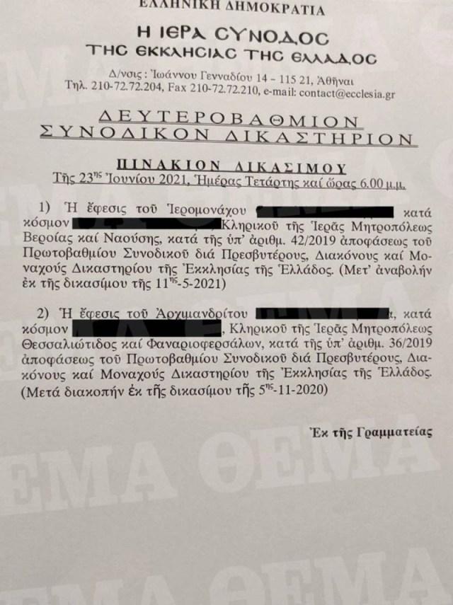 Επίθεση με βιτριόλι στη Μονή Πετράκη δίκη