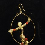 A bead-person earring