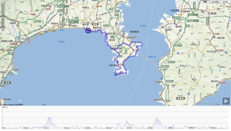 湘南&三浦半島110km ロングライド コース