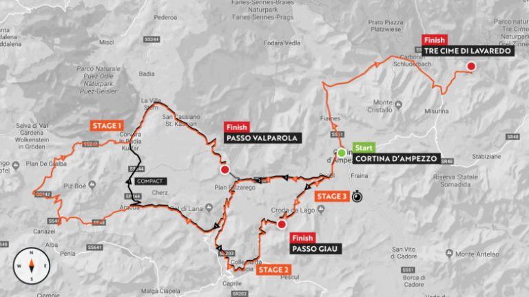 Haute Route Dolomites 2019 map