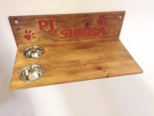 Mensola per gatto in legno incisa pj simba