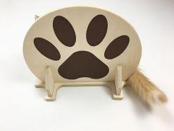 Mensola per gatti con zampa incisa