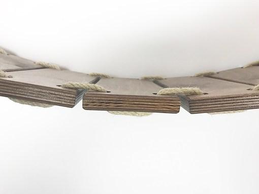 Ponte passerella per gatti in legno noce