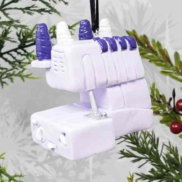 Serger Sewing Machine Christmas Ornament Seamstress Birthday Gift Decoration Decor Tool Equipment