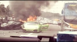 3 Lamborghini στις φλόγες!!!
