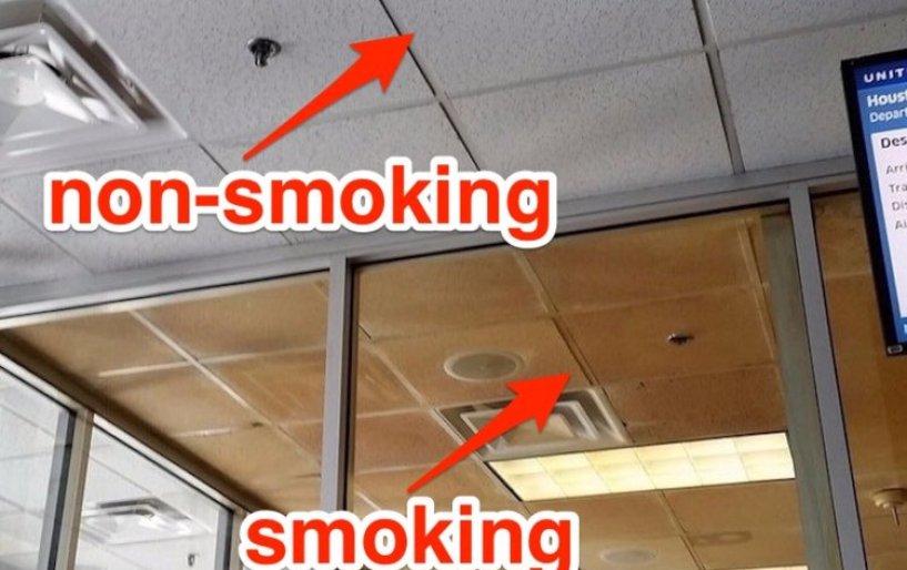 Non-smoking area