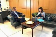 Συνάντηση Αυγενάκη με την Γιάννα Αγγελοπούλου Δασκαλάκη
