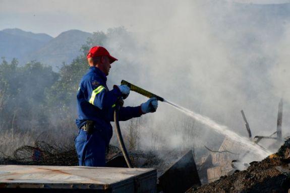 Δυο πυρκαγιές σε χώρους απορριμμάτων στην Κρήτη
