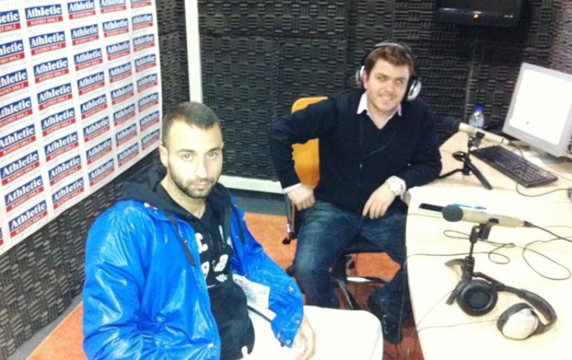 Ο Φώτης Παπουλής στο στούντιο του Athletic Radio