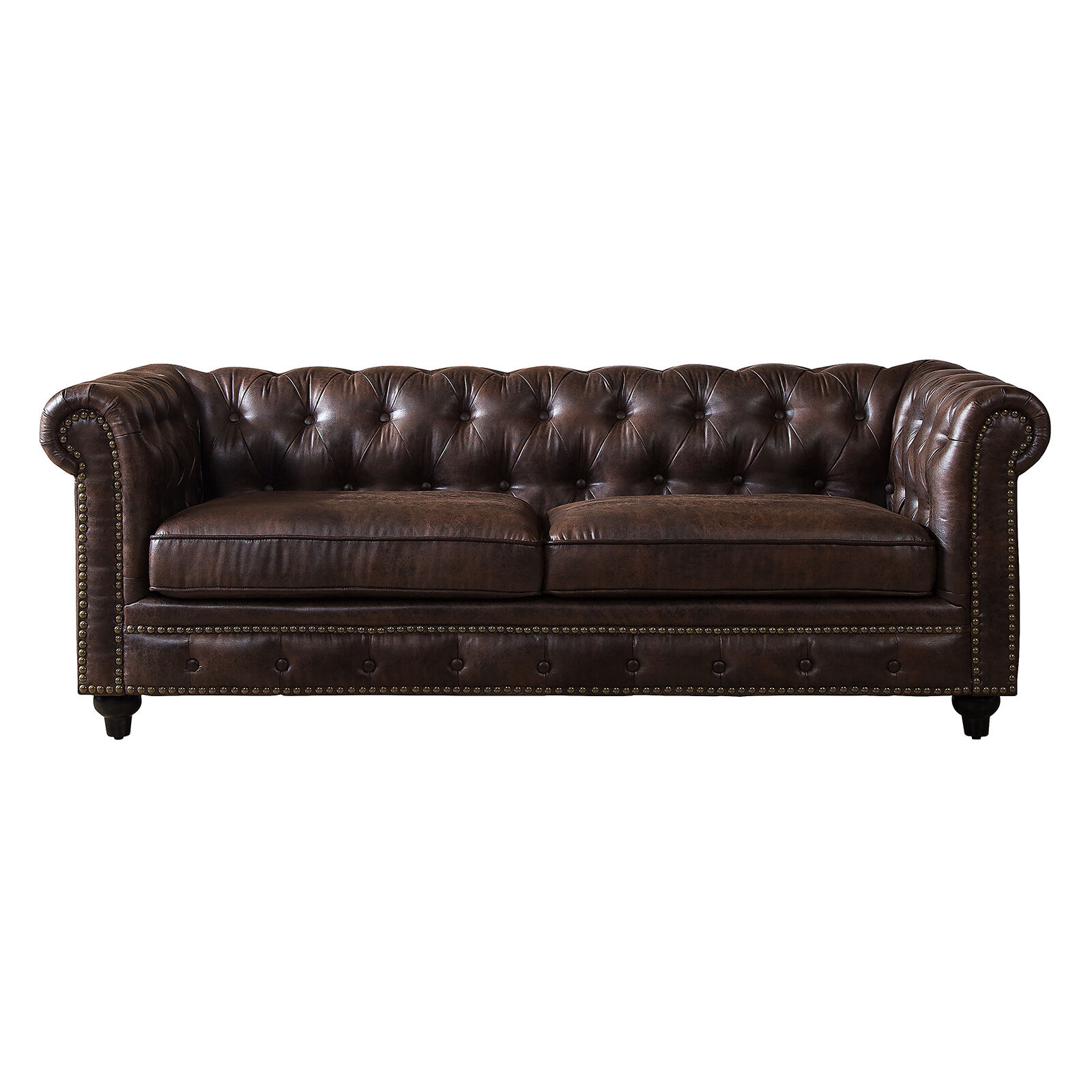Chesterfield Brown Sofa   At Home Chesterfield Brown Sofa