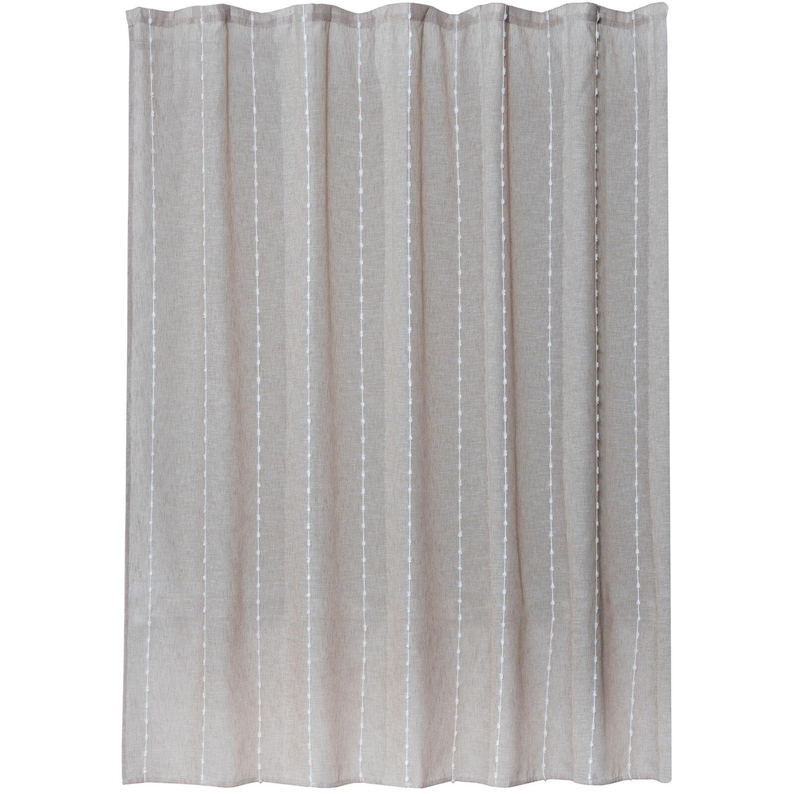 Pom Pom Stripes Shower Curtain At Home