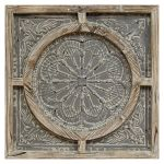 Wood Frame With Grey Metal Wall Decor 28x28 In At Home