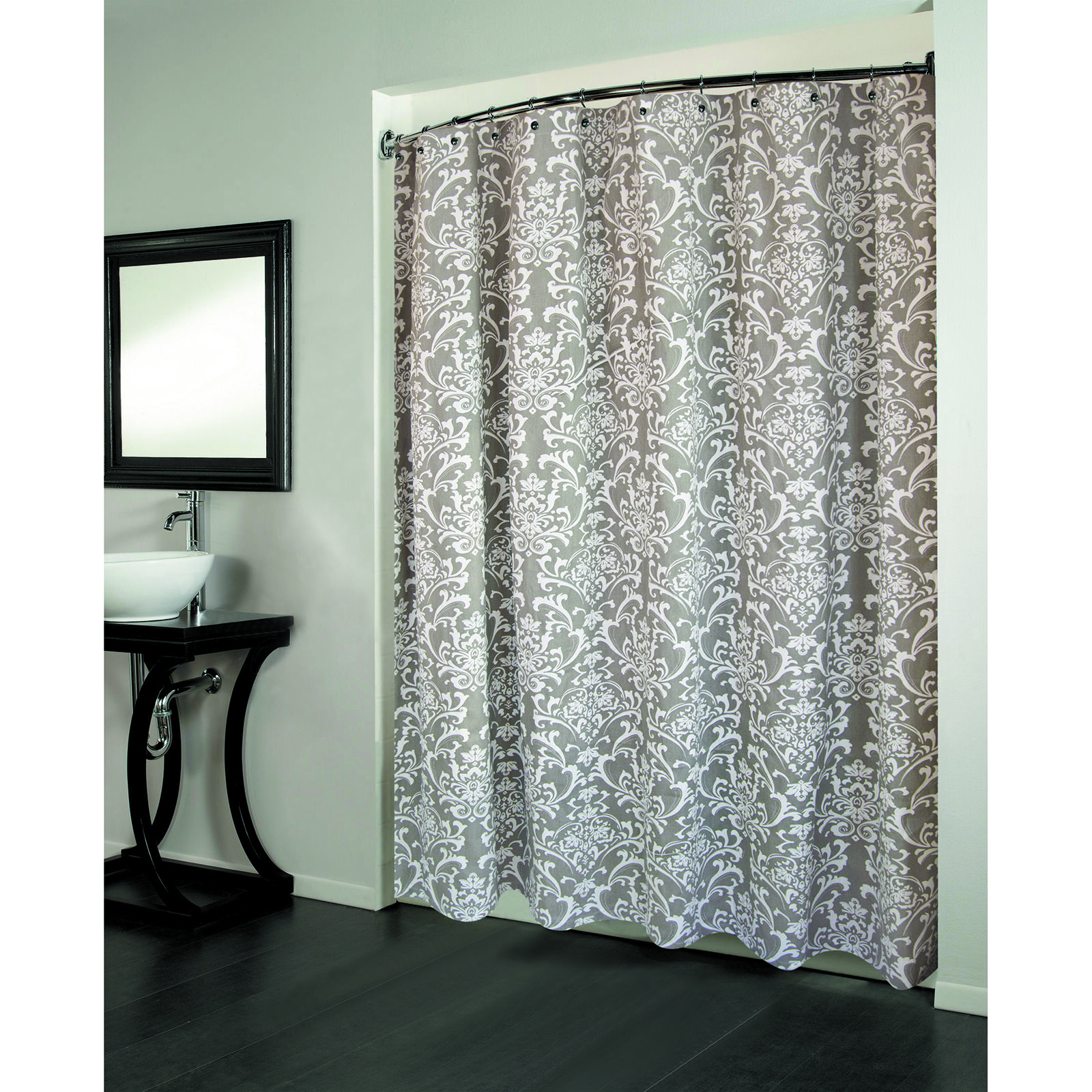 Medallion Gray Cotton Shower Curtain At Home