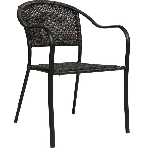 Dark Brown Wicker Barrel Chair   At Home Dark Brown Wicker Barrel Chair