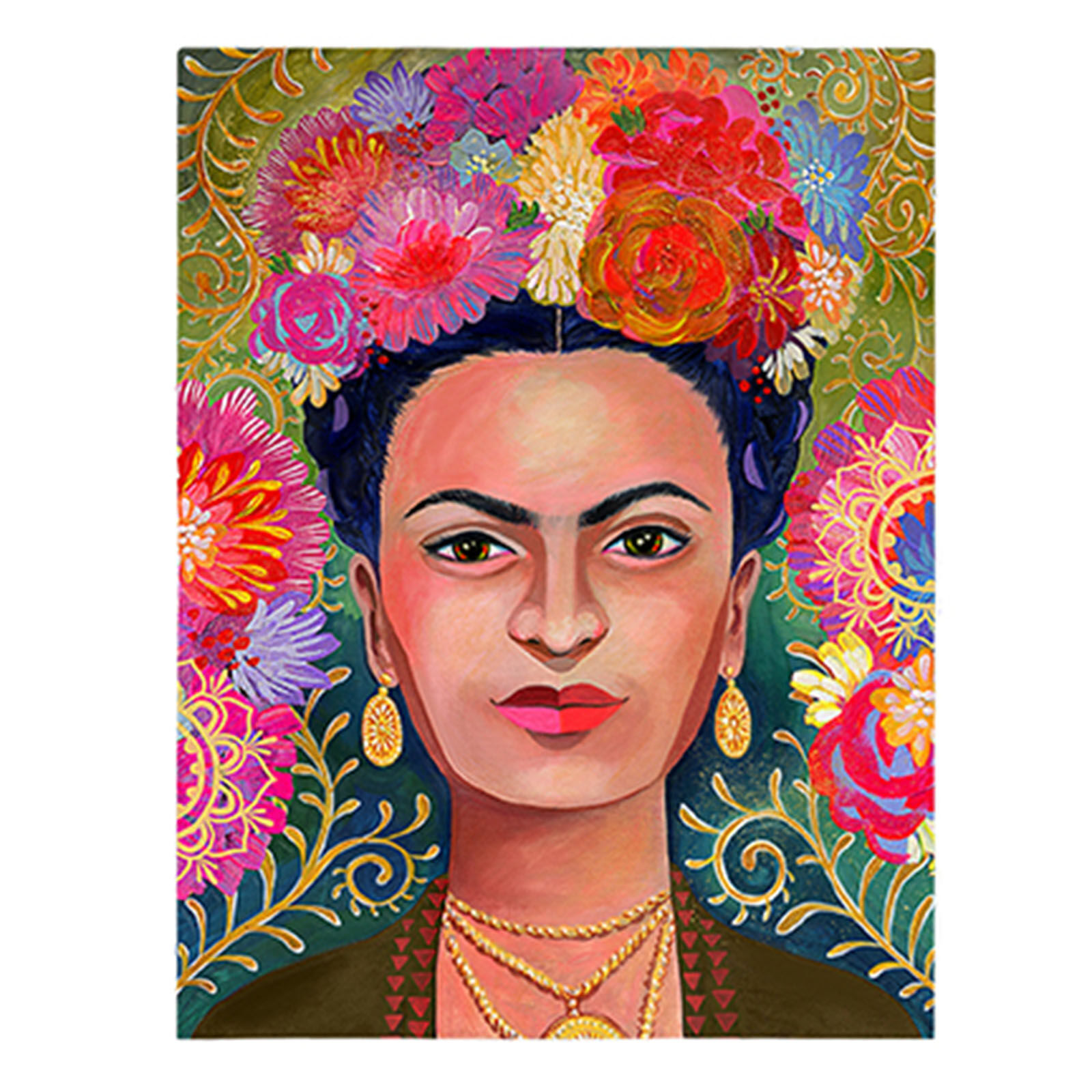 SA TEX 18X24 EMB FRIDA KAHLO At Home