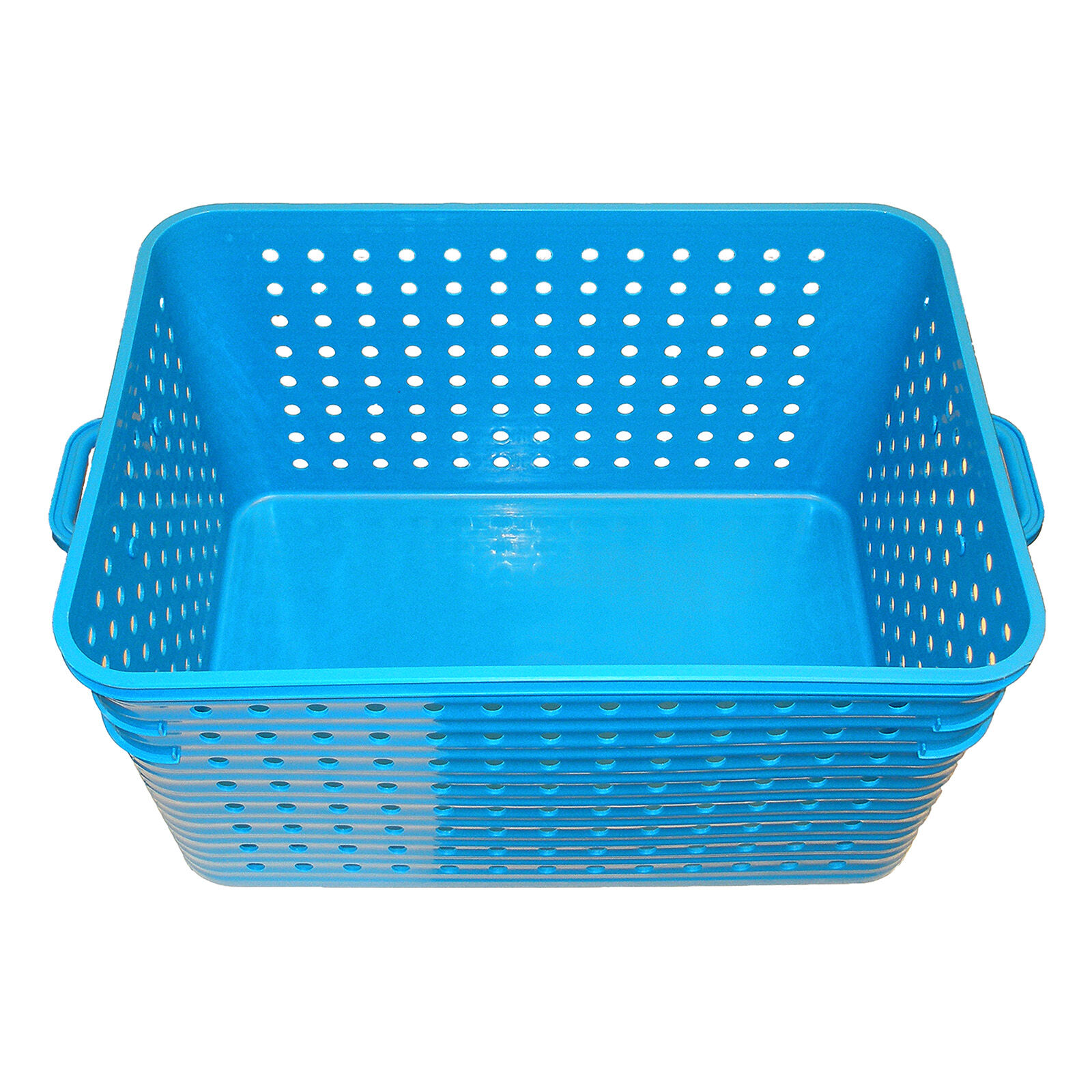 Large 2 Handle Basket Blue At Home