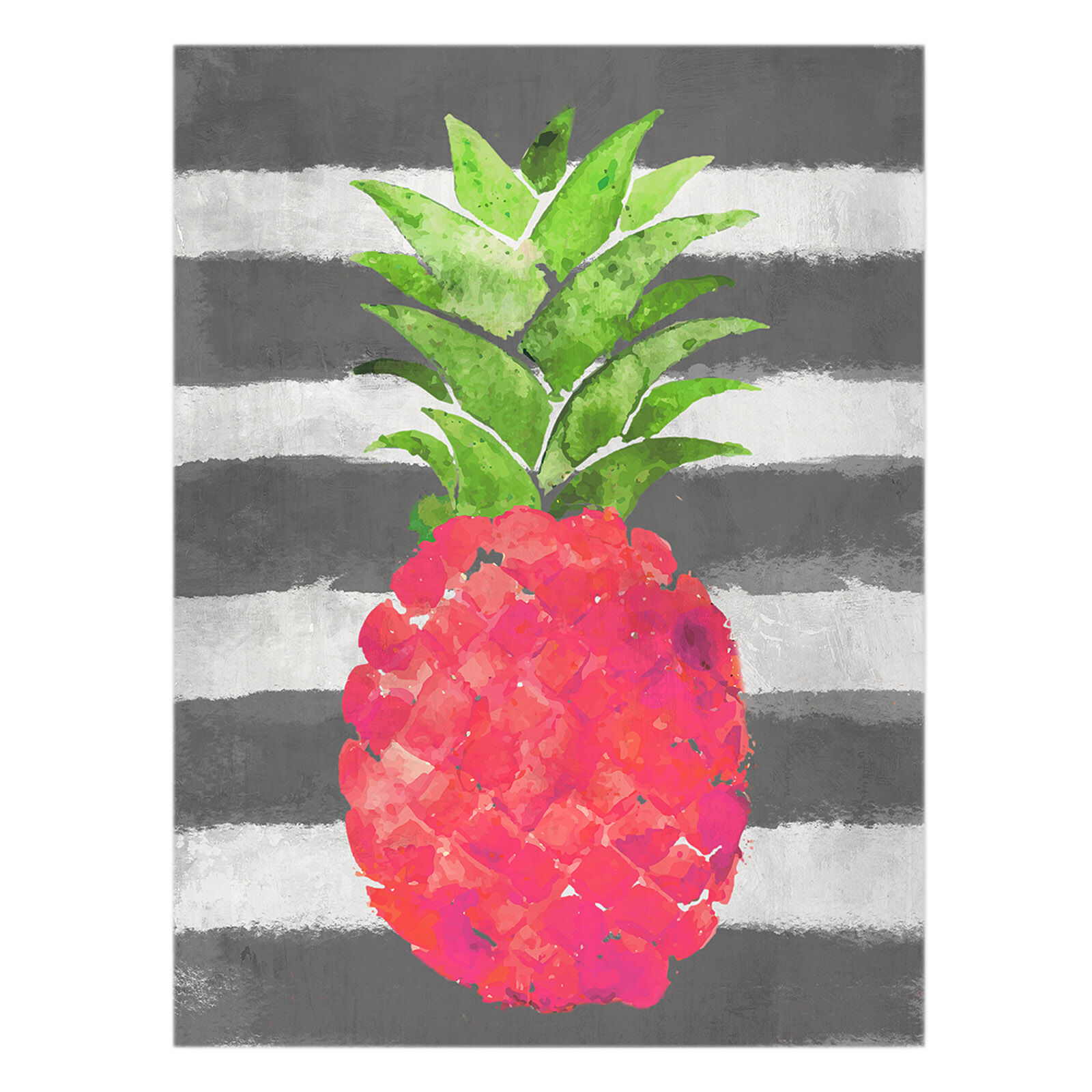 Pink Pineapple Canvas Wall Art 12x16 In At Home