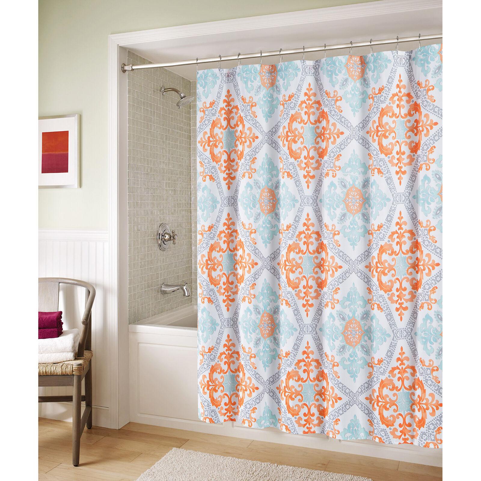 accessories bathroom curtain in orange