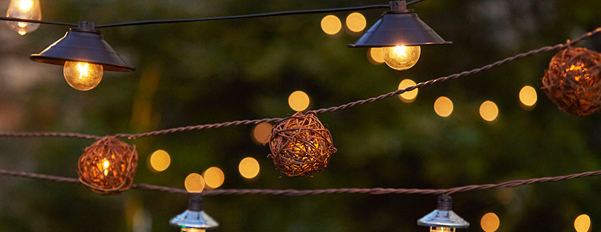Outdoor Lighting   At Home Outdoor Lighting  Assorted String Lights