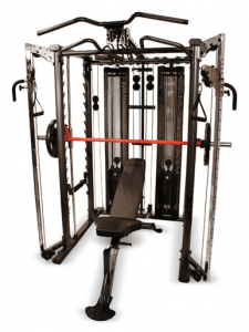 A Home Gym such as this Inspire Full Smith Cage System is an excellent way to get good strength training workouts.