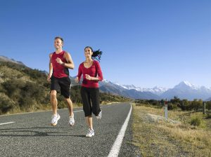 Having an exercise partner can help achieve a New Year's resolution to get more fit.