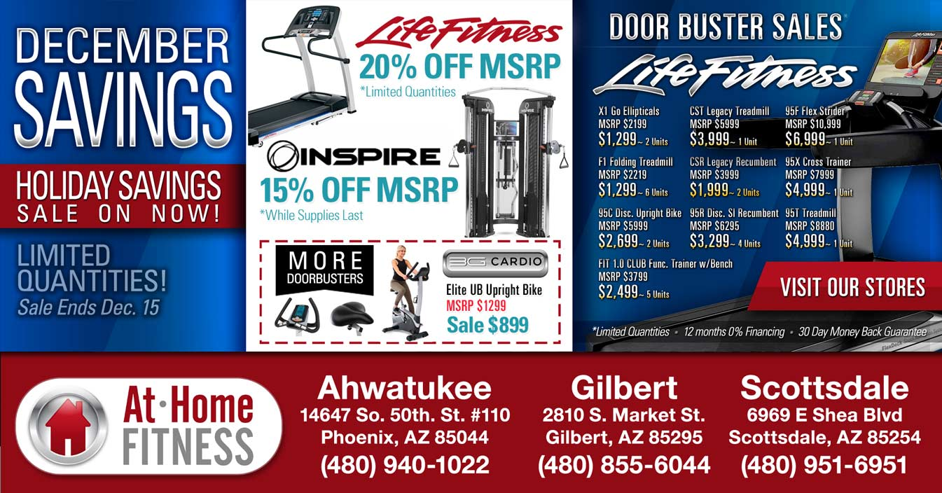 Get great December deals on 3G Cardio and Life Fitness products