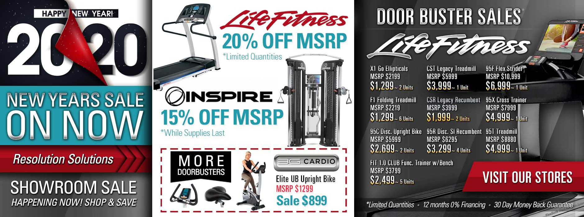 New Years 2020 Fitness Equipment Arizona Resolution Solution Sale at our At Home Fitness Showrooms