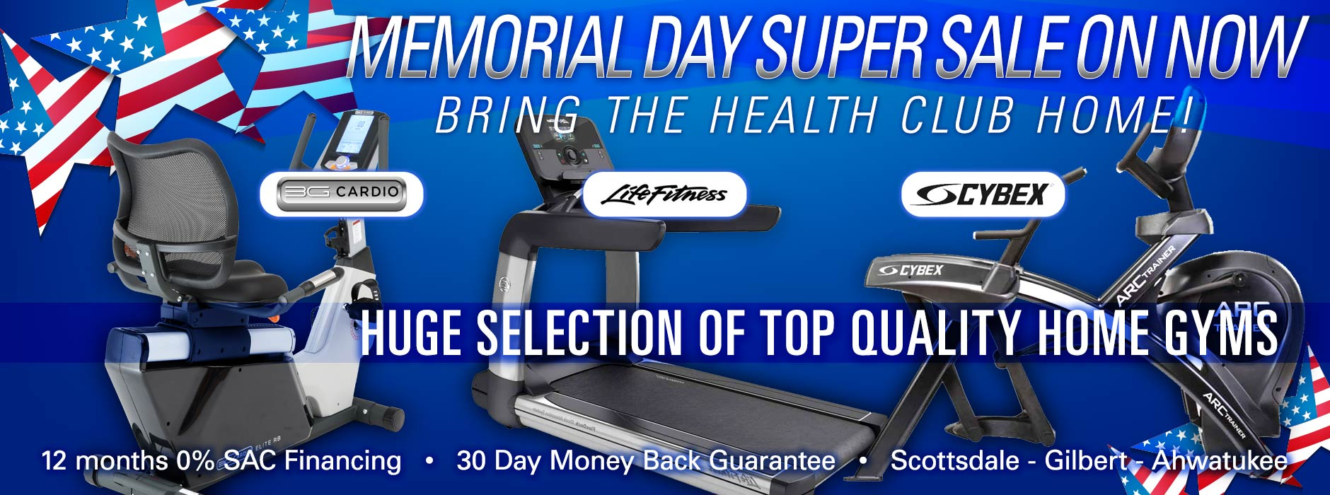 Memorial Day Super Sale on Arizona At Home Fitness
