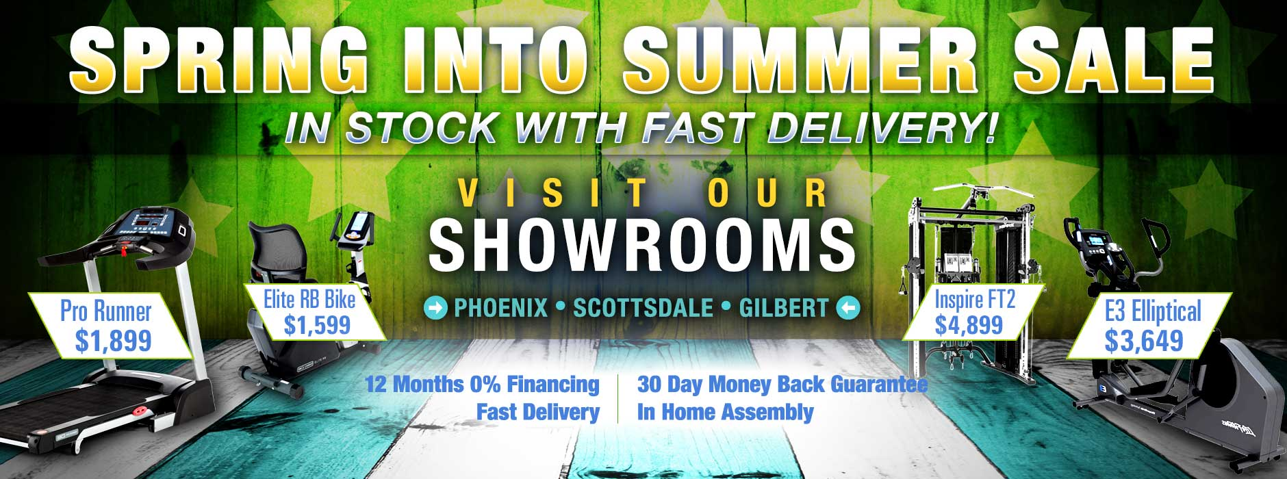 At Home Fitness Inventory In Stock with Fast Delivery - Spring Into Summer Sale - Visit our Showrooms