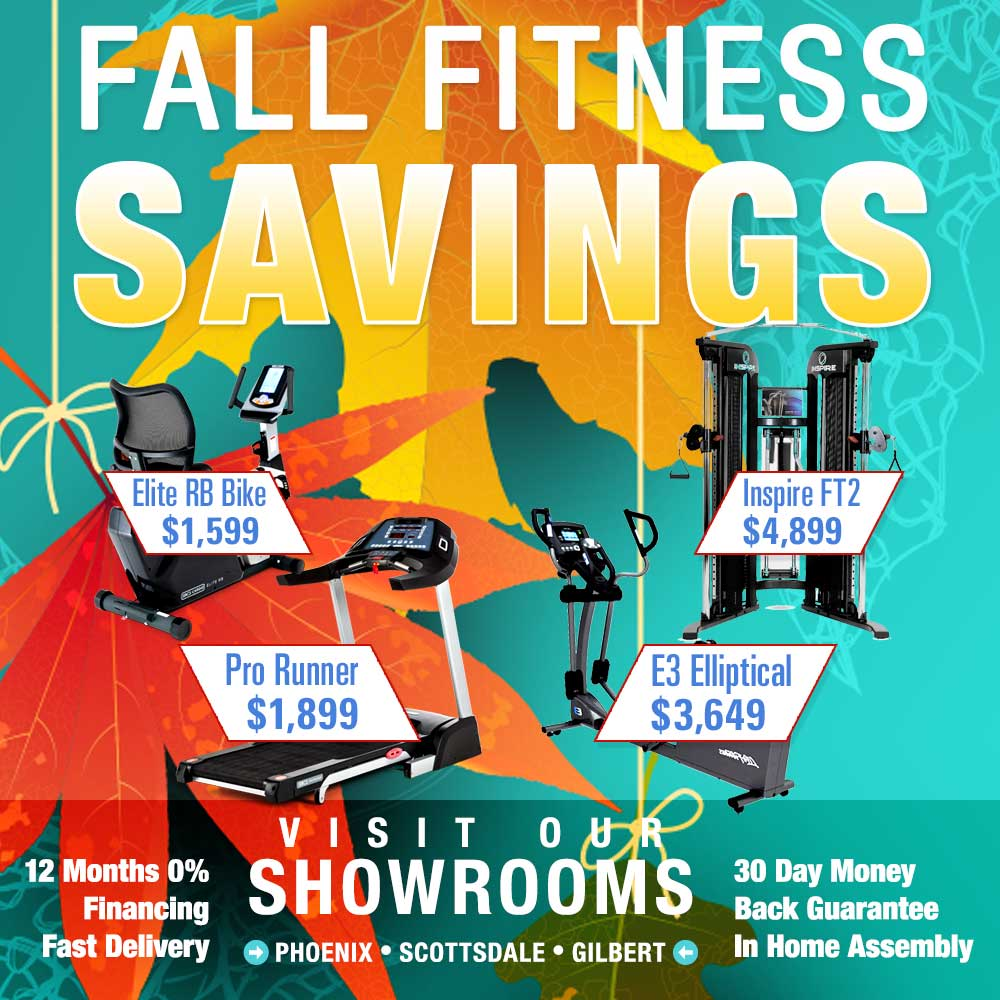 At Home Fitness Inventory In Stock with Fast Delivery - Fall Fitness Savings Sale - Visit our Showrooms