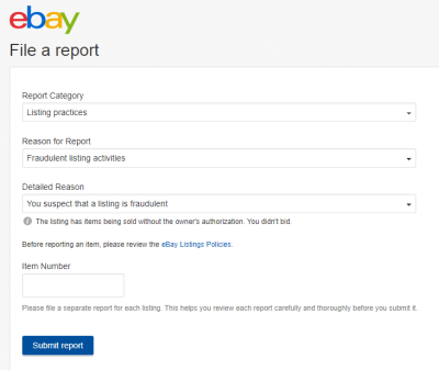 report block member buyer seller eBay online selling tips eCommerce