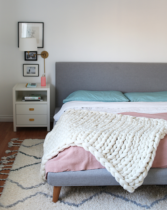 Diy Chunky Arm Knit Blanket At Home In Love