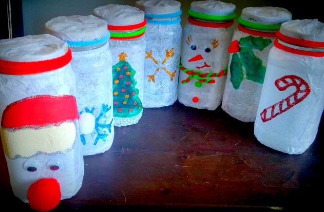 Jar Crafts- Recycled Items Turned Into Gifts