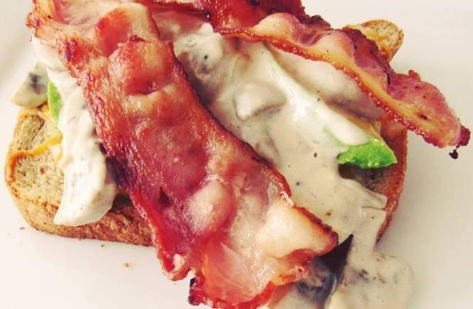 Egg Mushroom Avocado Bacon Toast