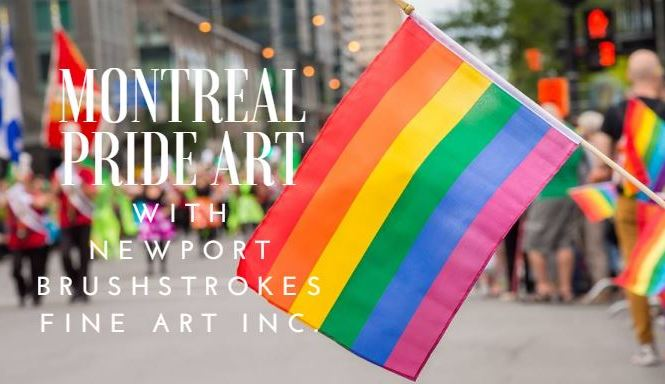 Montreal Pride Art Newport Brushstrokes