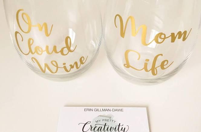 My Pretty Creativity Stemless Wine Glasses