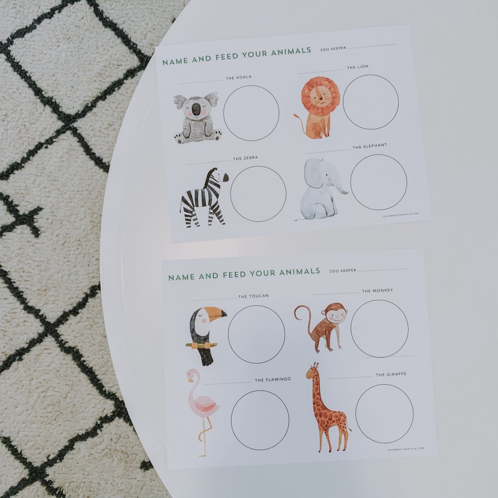 Free Zoo Keeper Counting Printable Imagination Fine