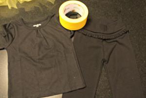DIY bee costume supplies