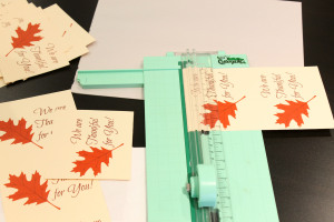 Cutting thankful tags