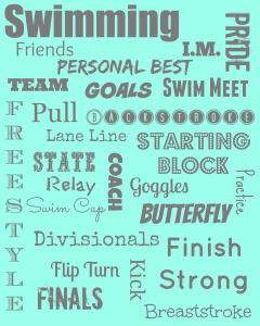 teal and gray swim printable