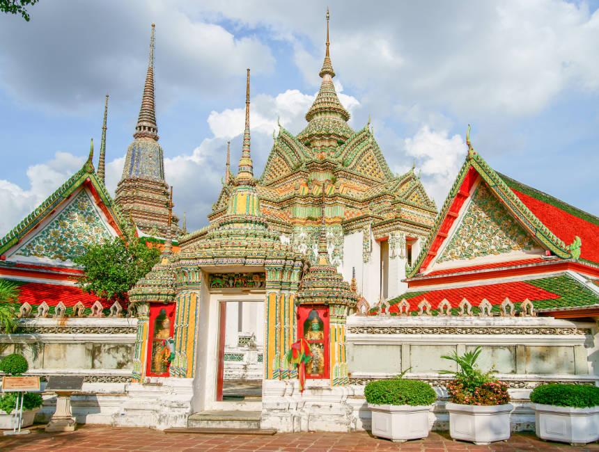 Temple Wat Pho Bangkok, inscription thaï