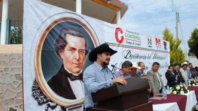 En la Tenencia de Melchor Ocampo, el alcalde de Contepec, Felipe de Jesús Contreras, señaló que es un honor poder contar entre las filas de hijos de Pateo y Contepec con un personaje como lo es Melchor Ocampo
