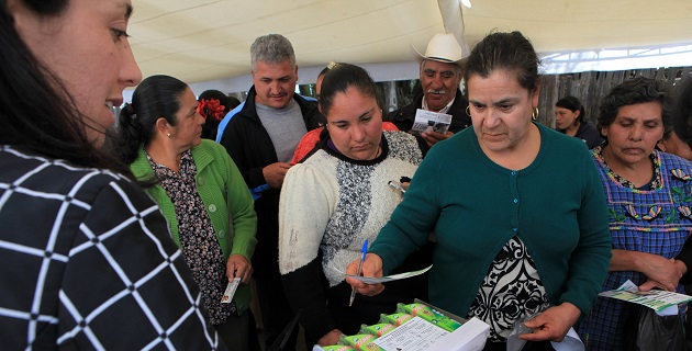 Para difundir el canje de lámparas, Diconsa publica acuerdos en asambleas comunitarias en lenguas indígenas, perifoneo en unidades móviles, visitas casa por casa y difusión oral
