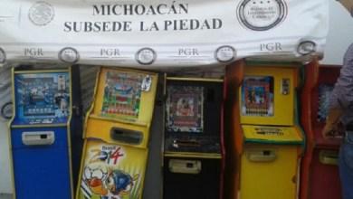 Los mini casinos fueron puestos a disposición del Ministerio Federal, por efectivos de la Policía Federal, en La Piedad