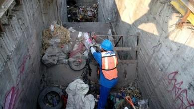 Se retiraron en total 14 toneladas de basura y material azolvado