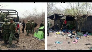 Durante el operativo reforzado en la zona, los elementos militares y policiales lograron la detención de Alberto V., Eduardo H., José P., Carlos R., César P., y Beatriz R.