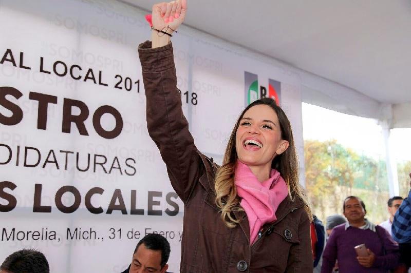 Daniela de los Santos, virtual abanderada del PRI en Morelia - Atiempo