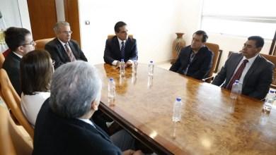 Los magistrados que integran el Poder Judicial del estado fueron encabezados por su presidente Marco Antonio Flores Negrete