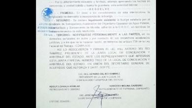 Junta Local de Conciliación y Arbitraje declara existente la huelga del Sindicato del OOAPAS